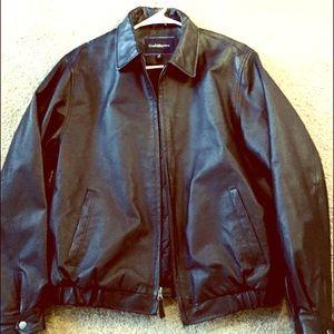 Black Croft & Barrow Leather Jacket Men's Size L.
